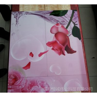山东凹凸效果艺术玻璃生产加工设备 彩色玻璃印花机