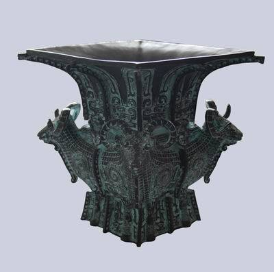 供应仿古青铜器 1/3四羊方尊家居收藏博物馆展厅复仿品摆件