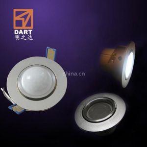 供应嵌入式led人体感应筒灯--防眩目--专利!