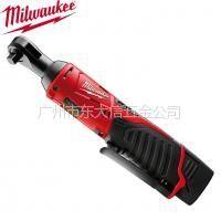 """供应Milwaukee米沃奇锂电池充电棘轮扳手M12IR 12V锂电池 (1/4"""")(3/8"""")"""