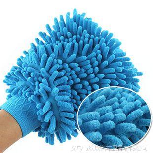单面雪尼尔洗车手套 超细纤维洗车手套 擦车手套 厂家直销