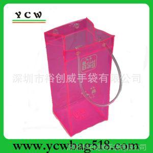 供应欢迎来样定制 粉色透明酒袋 可爱透明袋 糖果色PVC袋 专业订做