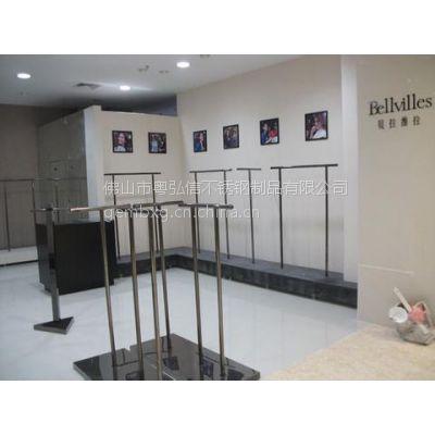 供应专业制做服装不锈钢展示架/鞋柜不锈钢展示台