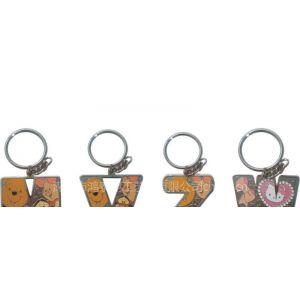 供应字母钥匙扣,英文字母吊饰,字母饰品