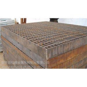 供应包头耐腐蚀钢格板/松盛热镀锌钢格栅板是