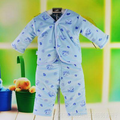 TB1569 宝宝棉衣 水晶绒夹棉二用裆棉套装 婴幼儿秋冬服装  特价
