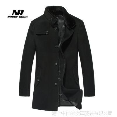 羊毛呢大衣男羊绒大衣男外套冬呢子英伦大衣男韩版中长款毛呢外套
