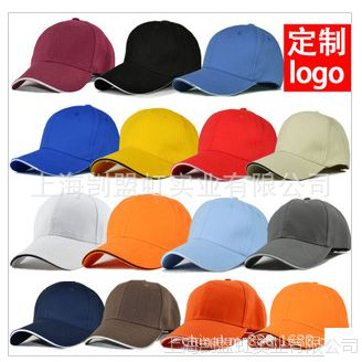 全棉帽子定做棒球三明治帽子厂家 定制鸭舌成人帽子可绣公司LOGO