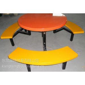 玻璃钢餐桌椅、食堂连体餐桌椅、六人圆桌餐桌餐椅厂家批发厂家直销
