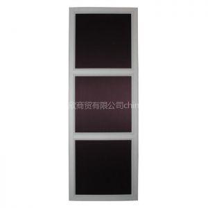供应白色边框紫色磨砂纹滑门 衣柜移门 推拉门
