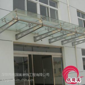 供应钢结构雨棚门头玻璃雨棚夹胶玻璃雨棚钢结构玻璃雨棚