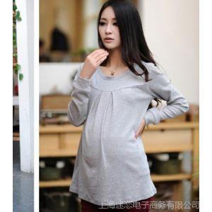 供应孕妇装秋装上衣 孕妇打底衫 长袖韩版 孕妇T恤 孕妇打底衣6032my