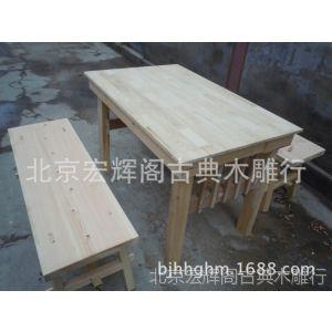 供应快餐桌椅 幼儿园学生桌椅 食堂实木桌椅组合 韩式桌椅订做