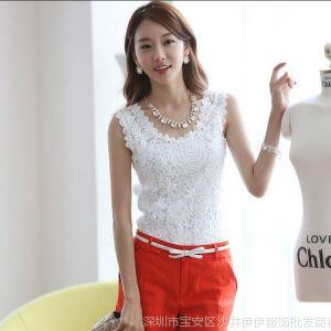 供应2014夏季新款打底衫 韩版女装T恤 大码蕾丝小背心女 夏 吊带衫