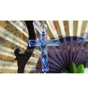 供应汽车挂件 挂饰 耶酥十字架 琉璃车内后视镜吊饰 平安招财