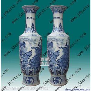 青花花鸟大花瓶,手绘大花瓶,乔迁礼品-鑫腾陶瓷
