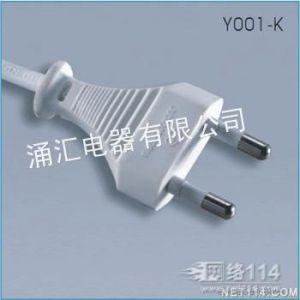 供应厂家供应2芯欧洲插头 两芯欧洲圆角插头2*0.75mm2