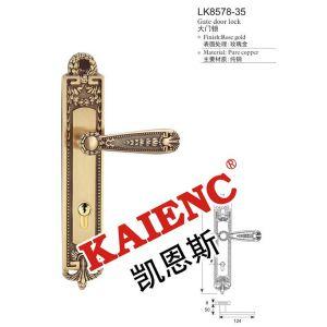 供应玫瑰金纯铜酒店门锁 高端品味中国锁具十大品牌