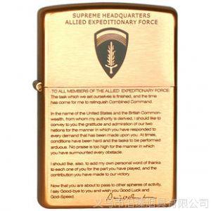 供应原装专柜 ZIPPO芝宝打火机 纯铜蚀刻 远征盟军艾森豪威尔离职宣言