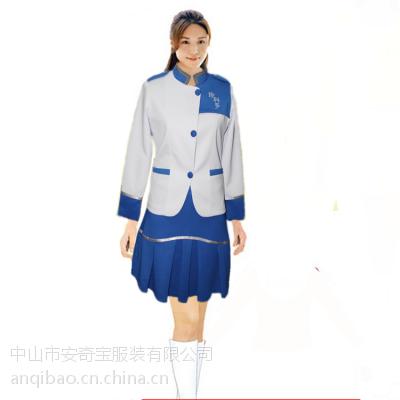 定制春季女促销服套装 食品饮料促销服 商场工作服制服