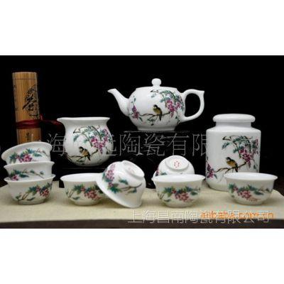 景德镇粉彩茶具,粉彩单壶,手绘粉彩盖碗、粉彩茶叶罐