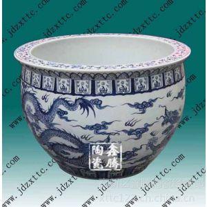 供应青花陶瓷大缸,摆件礼品鱼缸,陶瓷大缸生产商,大量定做