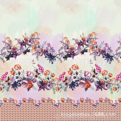 花卉印花,裁片印花,各类面料数码印花布料旗袍面料