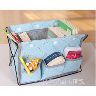 创意可折叠竹炭铁艺化妆品收纳盒桌面首饰盒小物多功能收纳袋