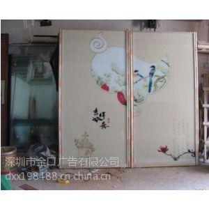 供应深圳观澜坂田玻璃门彩印制作 彩印加工/浮雕加工厂家