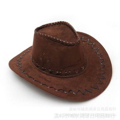 厂家直销  演出帽西部牛仔帽子沙滩遮阳帽旅游帽男女成人帽 帽子