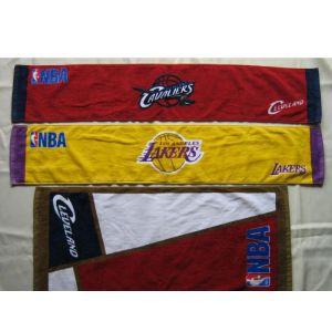 NBA蓝球队运动面巾;啦啦队毛巾