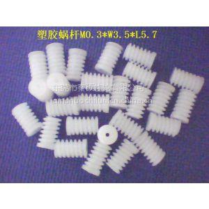 供应供应IC卡锁用塑胶蜗杆 塑料蜗杆 猪肠牙