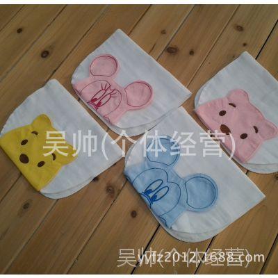 迪斯尼新款 28*42六层棉纱布 儿童吸汗巾 宝宝垫背巾