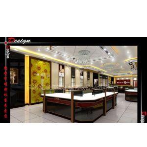 供应河南郑州珠宝展柜设计-木质展柜-烤漆展柜