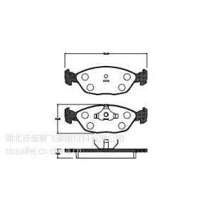 供应赛飞SD128刹车片