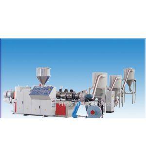 供应锥形 平行积木式双螺杆挤出机 锥形双螺杆造粒机 PVC粉料造粒机