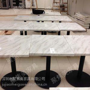 供应餐厅家具 餐桌 大理石餐桌 聚焦美质量保证