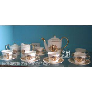 供应陶瓷咖啡具,厂家直销,精品花卉咖啡具