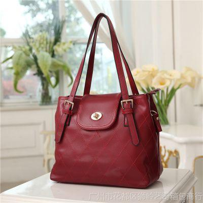 女包批发 2013新款韩版时尚菱格水桶包单肩手提斜跨包包 厂家直销