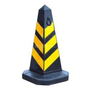 供应橡胶反光方尖锥塑料提环方锥防撞警示锥 雪糕筒防撞墩