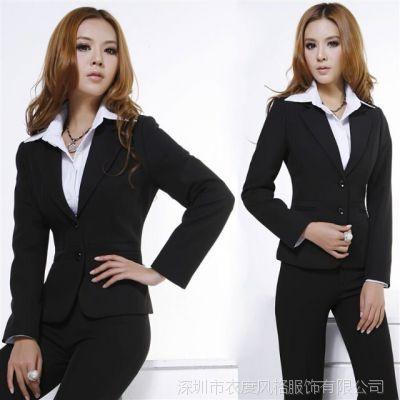 秋冬新款职业套装女装 修身时尚工作服正装长袖女式西服外套