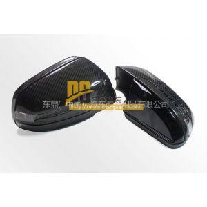 供应奔驰C系W204后视镜罩  ABS电镀/碳纤 底漆、亮光黑(包碳纤)、银色、黑色