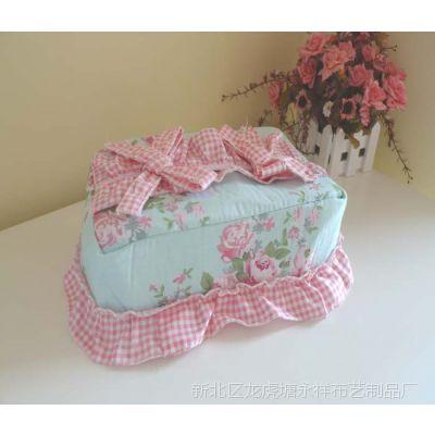 田园风格 阿迪丽娜纸巾盒罩 海绵内衬全棉