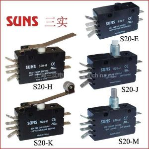 供应SUNS美国三实S20系列通用型微动开关(CHERRY E20系列)