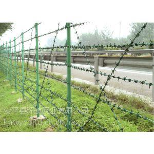 供应包塑铁蒺藜网栏|镀锌铁蒺藜|铁蒺藜绳厂家,一米的价格是多少