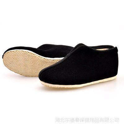 厂家直销老北京 纯手工千层底老年布鞋 加厚保暖冬款黑色男鞋