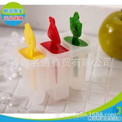韩国正品愤怒小鸟冰盒雪糕模具3P 冰棍冰格冰模带盖自制冰块盒