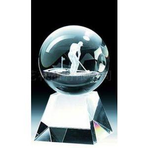 定制水晶摆件nd078水晶内雕高尔夫球加座