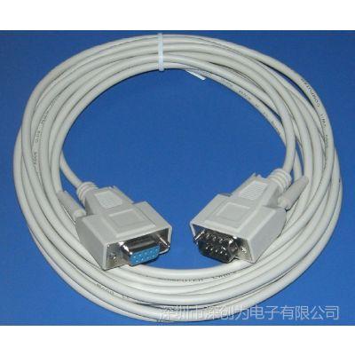 供应RS232串口线 5米 公对母 顺接 直连接点 DB9针串口线