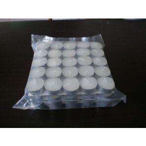 供应12克白色压制无烟环保出口茶蜡蜡烛/100支/包